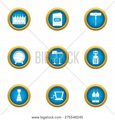 Intoxicating icons set. Flat set of 9 intoxicating icons for web isolated on white background poster
