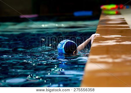 Small Kids Age Between 5-10 Years Old Enjoy Swimming.