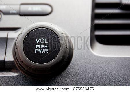 Media Player Volume Cotroller Inside A Car.