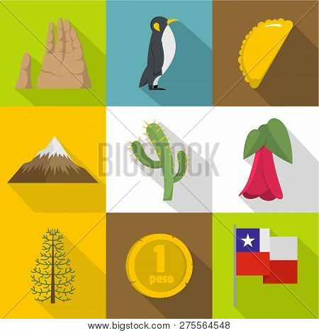Wilderness Icons Set. Flat Set Of 9 Wilderness Icons For Web Isolated On White Background
