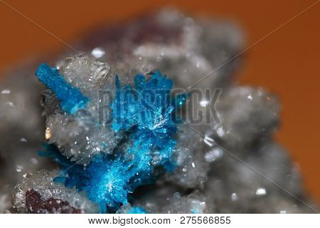 Beautiful And Rare Cavansite Mineral That Forms Sparkling Blue Crystals