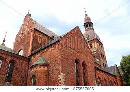 Riga Cathedral is the Evangelical Lutheran cathedral in Riga, Latvia poster