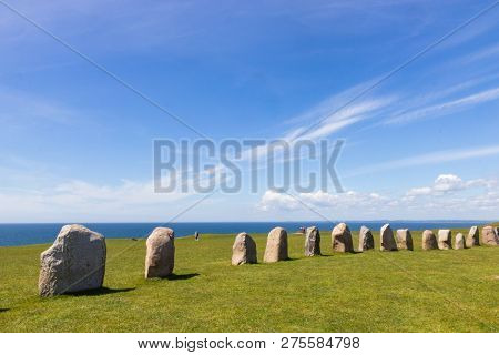 Ales Stenar - A Megalithic Monument In Scania In Southern Sweden.