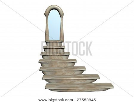 Stair door