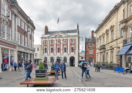 York, England - April 2018: The Mansion House, Home To Lord Mayor Of York, At St Helen Square In His