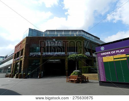 Wimbledon, United Kingdom. August 2016. Centre Court, All England Lawn Tennis And Croquet Club.