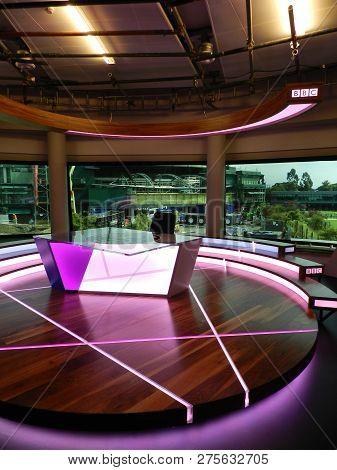 Bbc Studio Set. All England Lawn Tennis And Croquet Club. Wimbledon, United Kingdom.