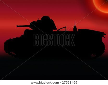 Ww2 Sunset Tank Silhouette