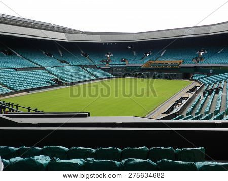Wimbledon, United Kingdom. August 2016. Centre Court After The Championships. All England Lawn Tenni