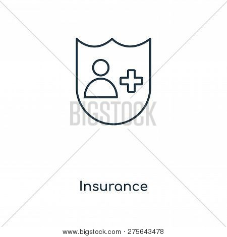 Insurance Icon In Trendy Design Style. Insurance Icon Isolated On White Background. Insurance Vector