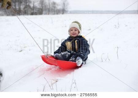 Boy In Sledge