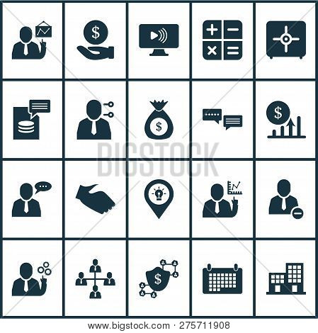 Team Icons Set With Calendar, Remove From Team, Team Schedule And Other Organization Elements. Isola