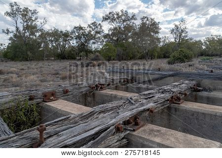 Disused Culvert, Crossing With Rotting Timbers, Washed Away By The Floods