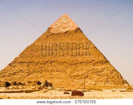 Big Pyramids Of Egypt. Pyramids, Megalithic Structures Of Ancient Civilization.