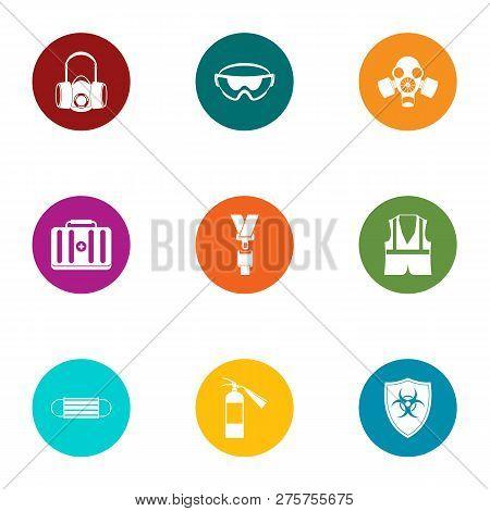 Bio Hazard Icons Set. Flat Set Of 9 Bio Hazard Icons For Web Isolated On White Background