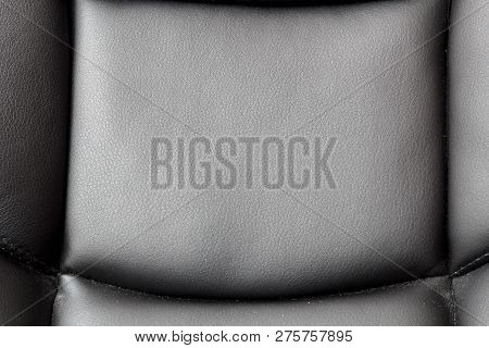 Part Of The Leather Chair Close-up. Leather Chair With A Seam
