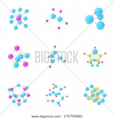 Join Icons Set. Isometric Set Of 9 Join Icons For Web Isolated On White Background