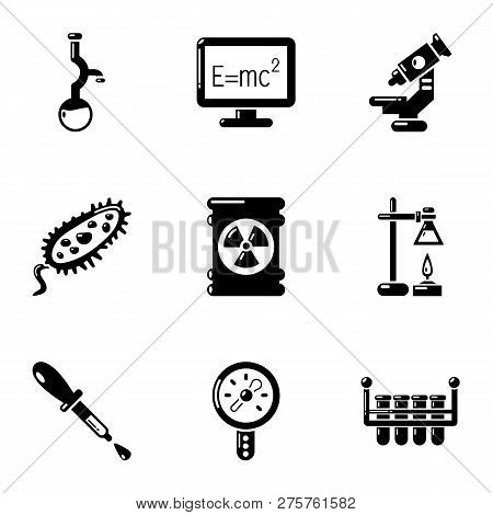 Physical Study Icons Set. Simple Set Of 9 Physical Study Icons For Web Isolated On White Background