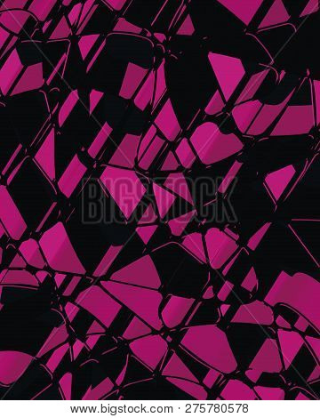 3d Abstract Futuristic Background, Geometric Shape And Lines