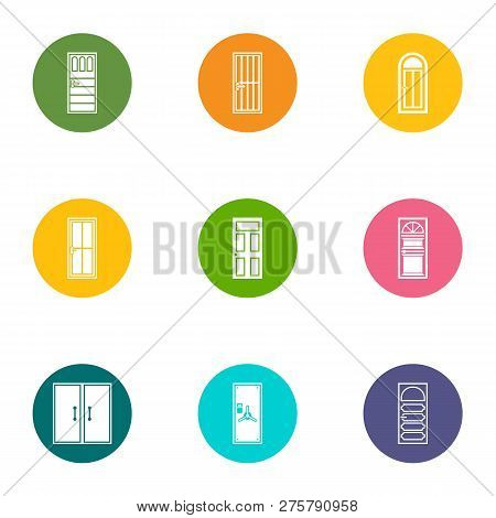 Wicket Icons Set. Flat Set Of 9 Wicket Icons For Web Isolated On White Background