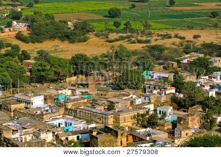 Small Indian village.