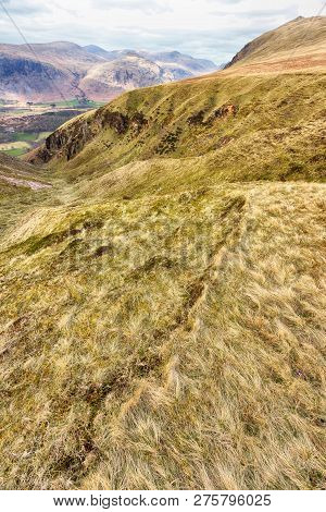 View From Hills In The Lake District In Portrait Orientation
