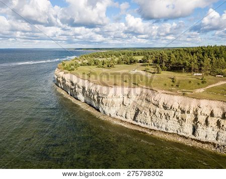Panga Coastal Cliff, Panga Pank, Mustjala Cliff, Northern Shore Of Saaremaa Island, Near Kuressaare,