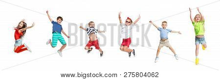 The Kids Dance School, Ballet, Hiphop, Street, Funky And Modern Dancers On White Studio Background.