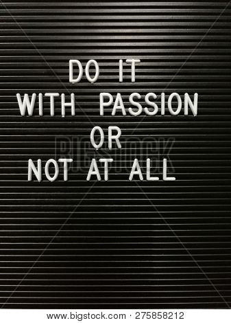 Quote on do it with passion