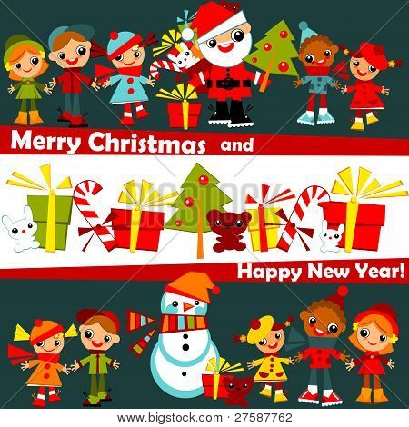 kids Christmas background.