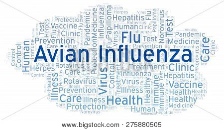 Avian Influenza Word Cloud, Made With Text Only