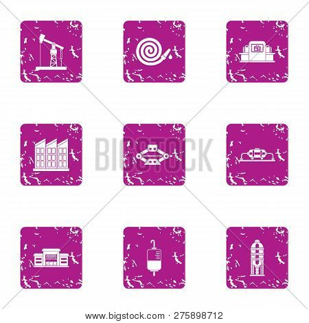 Rescue Assistance Icons Set. Grunge Set Of 9 Rescue Assistance Icons For Web Isolated On White Backg
