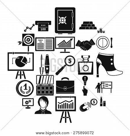 Symposium Icons Set. Simple Set Of 25 Symposium Icons For Web Isolated On White Background