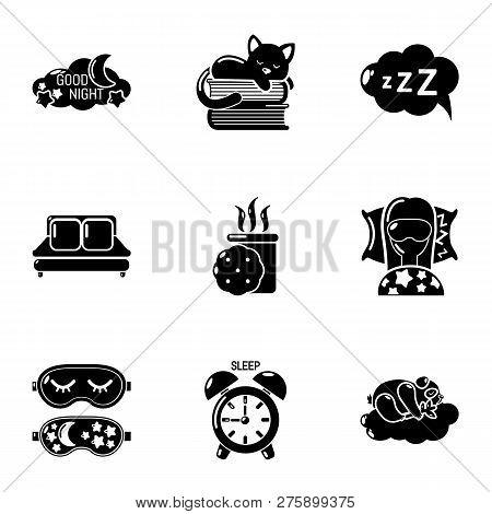Hibernation Icons Set. Simple Set Of 9 Hibernation Icons For Web Isolated On White Background