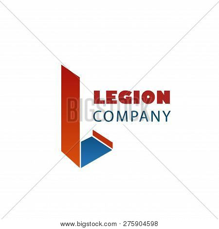 Legion Company Abstract Vector Sign. Vector Emblem For Any Company With Letter L. Creative Badge In