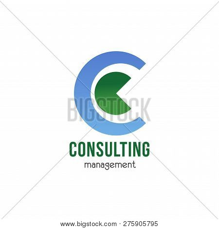 Consulting Management Vector Icon Isolated On A White Background. Abstract Badge For Business Projec