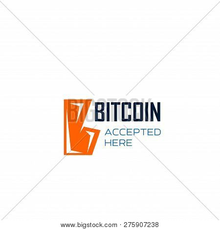 Letter B Icon For Bitcoin Cryptocurrency Or Digital Crypto Money Currency Mining, Stock Exchange And