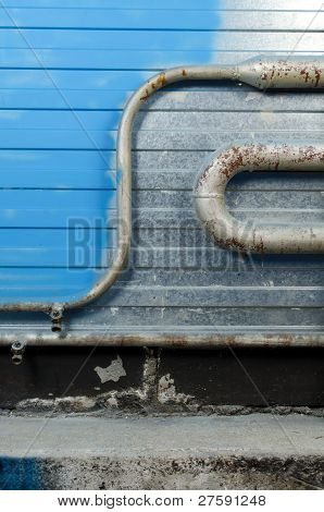 Steel Wall And Pipes | Background