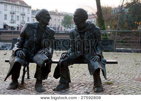 Mouchão Garden statues