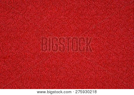 Soft Cotton Background Texture With Red Color