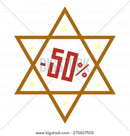 Final Hanukkah Sale Icon. Cartoon Of Final Hanukkah Sale Icon For Web Design Isolated On White Backg
