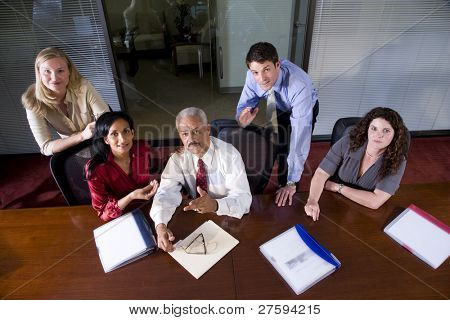 Multiethnic business team meeting in an office conference room