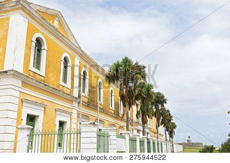 Exterior Of Landmark Building In Old San Juan Puerto Rico
