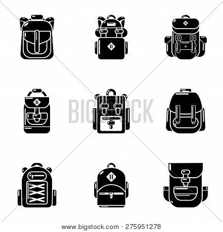 Packsack Icons Set. Simple Set Of 9 Packsack Icons For Web Isolated On White Background