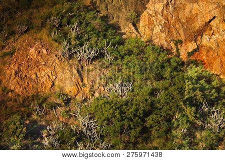Blank Rock And Erosion On A Hillside In St Thomas
