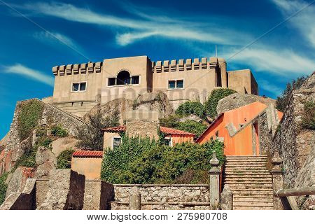 The Chapel Of Our Lady Of Penha Or Sanctuary Of Peninha, Is A Building Located On An Elevation Of Th