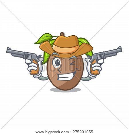 Cowboy Sapodilla Fruit On The Character Bowl