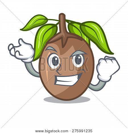 Successful Sapodilla Fruit Isolated On The Mascot
