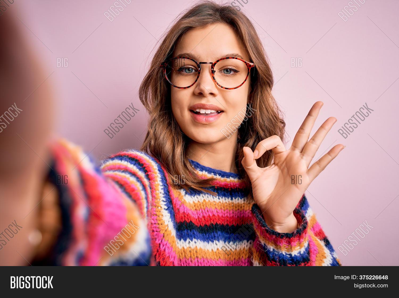 Blonde Girl Fingering Herself Selfie