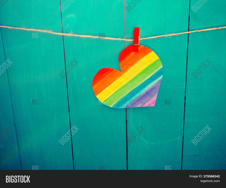 Rainbow Heart Lgbt Image Photo Free Trial Bigstock